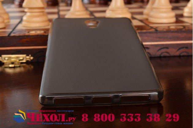 """Задняя панель-крышка из тончайшего мягкого силикона для lenovo phab 2 pb2-650m 6.4"""" с матовой отделкой серая"""