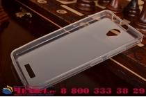 Ультра-тонкая полимерная из мягкого качественного силикона задняя панель-чехол-накладка для lenovo a5000 белая