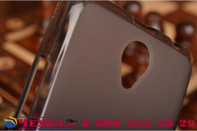 Ультра-тонкая полимерная из мягкого качественного силикона задняя панель-чехол-накладка для lenovo a5000 черная