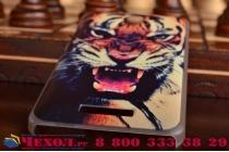 """Необычная из легчайшего и тончайшего пластика задняя панель-чехол-накладка для lenovo a5000 """"тематика дикий тигр"""""""