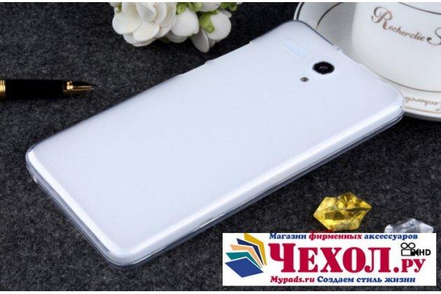 """Ультра-тонкая полимерная из мягкого качественного силикона задняя панель-чехол-накладка для lenovo a616 5.5"""" белая"""