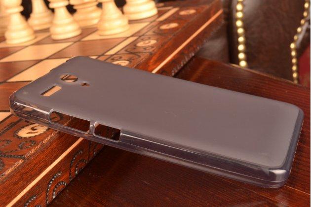 """Ультра-тонкая полимерная из мягкого качественного силикона задняя панель-чехол-накладка для lenovo a616 5.5"""" черная"""