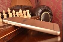 Металлическая задняя панель-крышка-накладка из тончайшего облегченного авиационного алюминия для lenovo a936 золотая