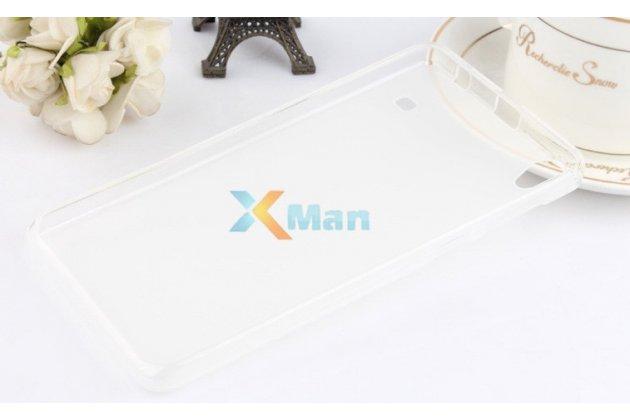 Ультра-тонкая полимерная из мягкого качественного силикона задняя панель-чехол-накладка для lenovo a936 белая