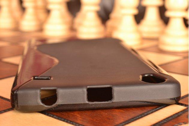 Ультра-тонкая полимерная из мягкого качественного силикона задняя панель-чехол-накладка для lenovo a936 черная