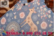 """Роскошная задняя панель-чехол-накладка с безумно красивым расписным узором на lenovo k3 music lemon/a6000 """"тематика олени с цветами"""""""