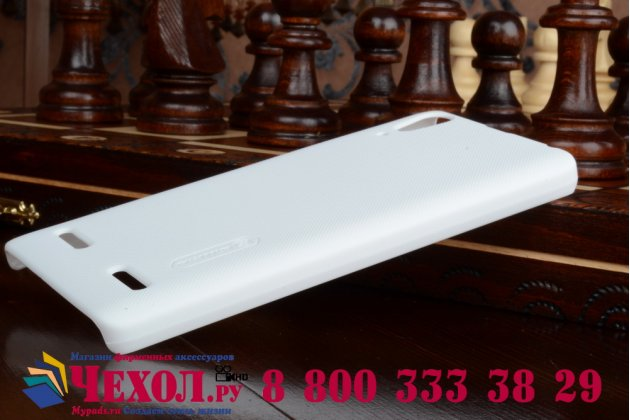 Задняя панель-крышка-накладка из тончайшего и прочного пластика для lenovo k3 music lemon белая