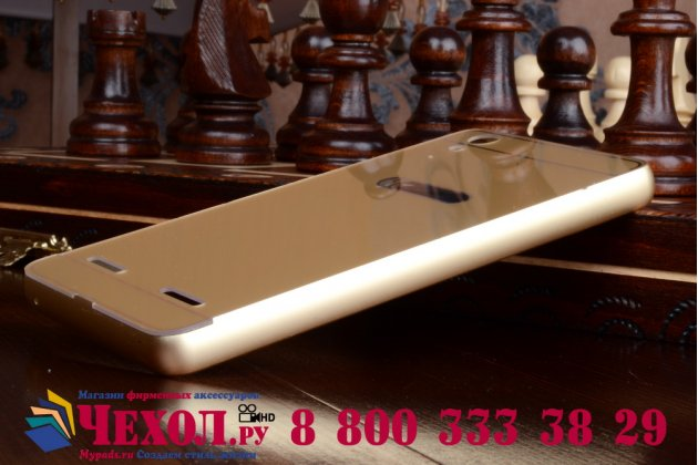 Металлическая задняя панель-крышка-накладка из тончайшего облегченного авиационного алюминия для lenovo k3 music lemon золотая