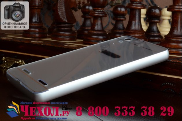 Металлическая задняя панель-крышка-накладка из тончайшего облегченного авиационного алюминия для lenovo k3 music lemon серебристая