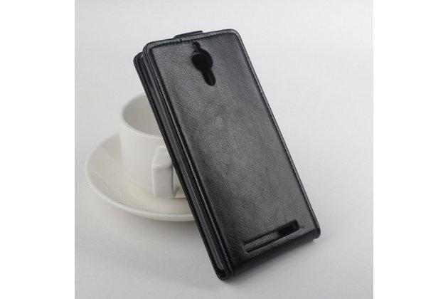 Вертикальный откидной чехол-флип для lenovo k80/p90/p90 pro черный кожаный