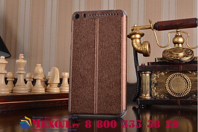 "Чехол-книжка водоотталкивающий с мульти-подставкой на жёсткой металлической основе для lenovo phab plus pb1-770n/770m 6.8"" za070019ru коричневый"