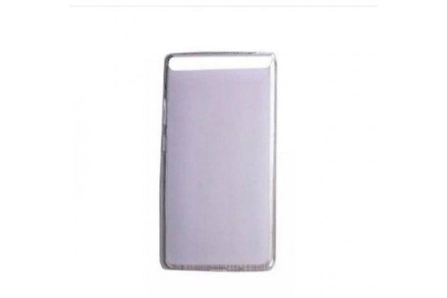 """Ультра-тонкая полимерная из мягкого качественного силикона задняя панель-чехол-накладка для lenovo phab plus pb1-770n/770m 6.8"""" za070019ru белая"""