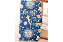 """Уникальный необычный чехол-книжка для lenovo s650 """"тематика олень в цветах"""""""