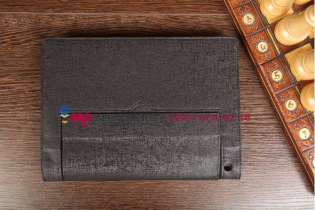 Чехол со съёмной bluetooth-клавиатурой для lenovo yoga tablet 10 b8000/b8080 черный кожаный + гарантия