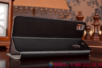 Чехол-книжка из качественной водоотталкивающей импортной кожи на жёсткой металлической основе для lenovo k3 note/a7000  черный