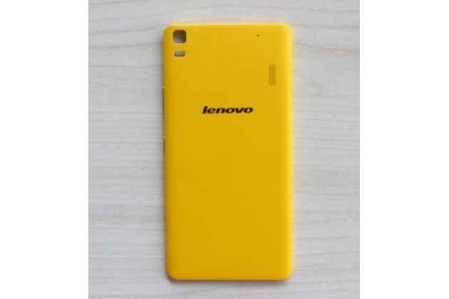 """Родная оригинальная задняя крышка-панель которая шла в комплекте для lenovo k3 note / a7000 5.5"""" желтая"""