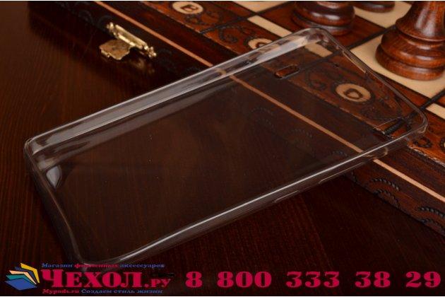 Ультра-тонкая полимерная из мягкого качественного силикона задняя панель-чехол-накладка для lenovo k3 note/a7000 черная полупрозрачная