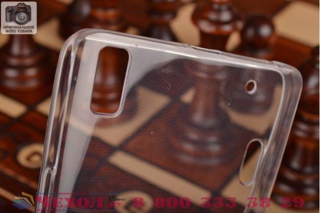 Ультра-тонкая полимерная из мягкого качественного силикона задняя панель-чехол-накладка для lenovo k3 note/a7000 белая