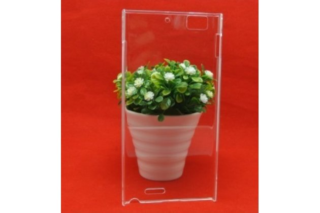 Ультра-тонкая пластиковая задняя панель-чехол-накладка для lenovo k900 прозрачная