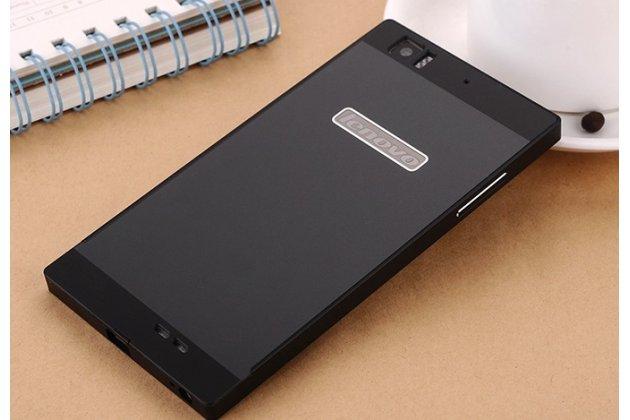 Металлическая задняя панель-крышка-накладка из тончайшего облегченного авиационного алюминия для lenovo k900 черная
