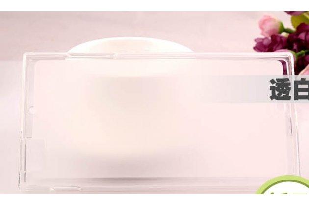 Ультра-тонкая полимерная из мягкого качественного силикона задняя панель-чехол-накладка для lenovo k900 белая