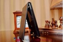 """Вертикальный откидной чехол-флип для lenovo k900 черный из качественной импортной кожи """"prestige"""" италия"""