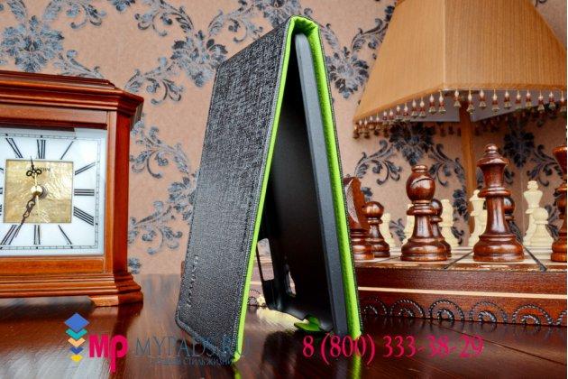 Вертикальный откидной чехол-флип для lenovo p780 черный кожаный