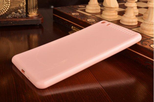 """Ультра-тонкая полимерная из мягкого качественного силикона задняя панель-чехол-накладка для lenovo phab plus pb1-770n/770m 6.8"""" za070019ru розовая"""