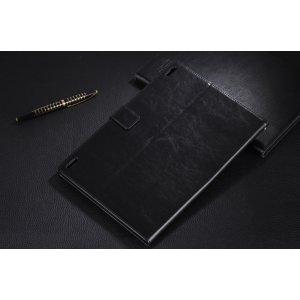 Чехол-обложка для lenovo s6000 черный кожаный