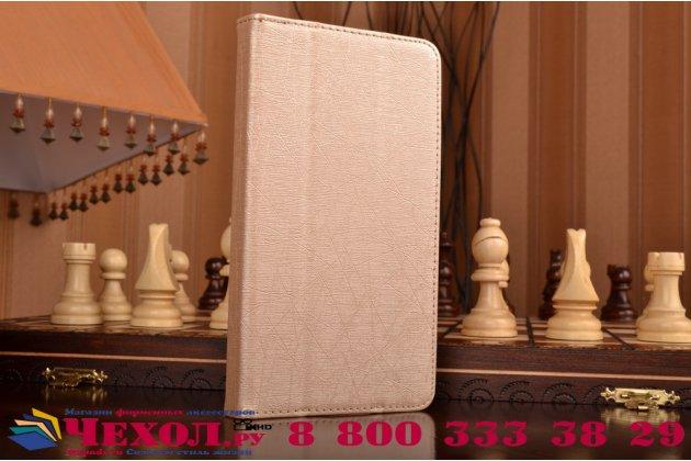 """Чехол-футляр-книжка для lenovo phab plus pb1-770n/770m 6.8"""" za070019ru золотой кожаный"""