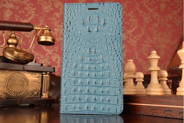 """Роскошный эксклюзивный чехол с объёмным 3d изображением рельефа кожи крокодила синий для lenovo phab plus pb1-770n/770m 6.8"""" za070019ru. только в нашем магазине. количество ограничено"""