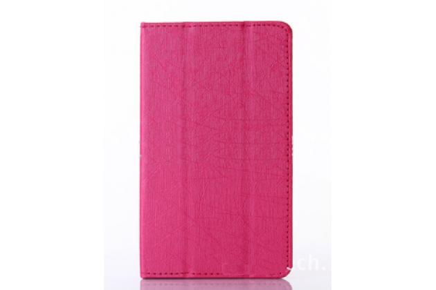 """Чехол-книжка для lenovo phab 2 pb2-650m 6.4"""" розовый водоотталкивающий"""