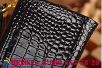 Роскошный эксклюзивный чехол-клатч/портмоне/сумочка/кошелек из лаковой кожи крокодила для телефона micromax q334 canvas magnus. только в нашем магазине. количество ограничено