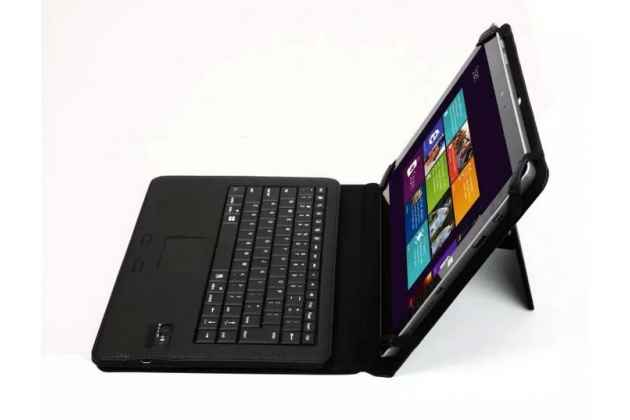 """Чехол со съёмной bluetooth-клавиатурой для microsoft surface 3 10.8"""" цвет розовый кожаный + гарантия"""