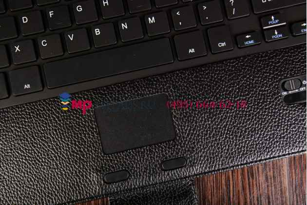 """Чехол со съёмной bluetooth-клавиатурой с тачпадом для microsoft surface pro 3 12"""" черный кожаный + гарантия"""