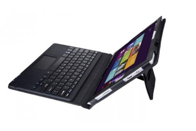 """Чехол со съёмной bluetooth-клавиатурой с тачпадом для microsoft surface pro 3 12""""  кожаный + гарантия"""