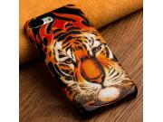Фирменная роскошная задняя панель-крышка обтянутая импортной кожей для Motorola Moto G5 Plus 5.2 тематика Тигр..
