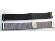 Фирменный сменный сетчатый плетёный миланский ремешок для умных смарт-часов Motorola Moto 360 из нержавеющей с..