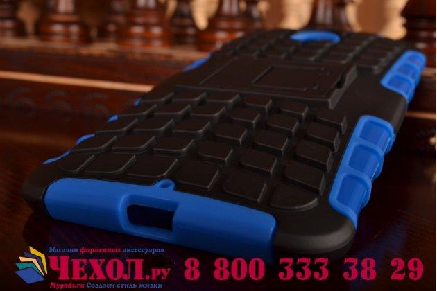 Противоударный усиленный ударопрочный чехол-бампер-пенал для motorola nexus 6 синий