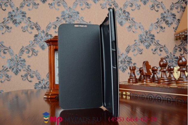 Чехол-книжка из качественной импортной кожи для motorola nexus 6 черный