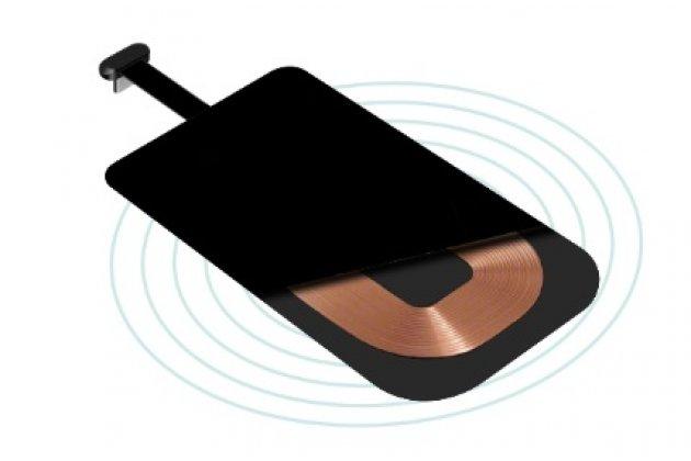 Беспроводная зарядка (qi) на телефон acer liquid gallant duo e350 с отделкой под кожу и led-подсветкой. продаётся комплектом (док -станция + ресивер)