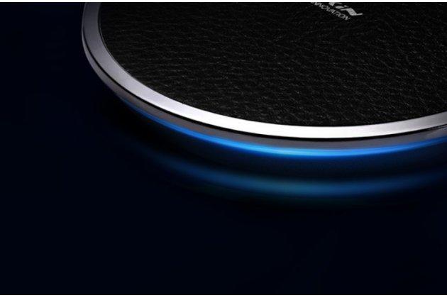 Беспроводная зарядка (qi) на телефон google pixel 2 xl с отделкой под кожу и led-подсветкой. продаётся комплектом (док -станция + ресивер)
