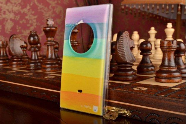 """Необычная из легчайшего и тончайшего пластика задняя панель-чехол-накладка для nokia lumia 1020 """"тематика все цвета радуги"""""""