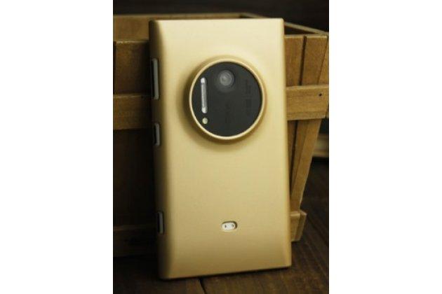 Роскошная элитная задняя панель-крышка пластиковая для nokia lumia 1020 золотая