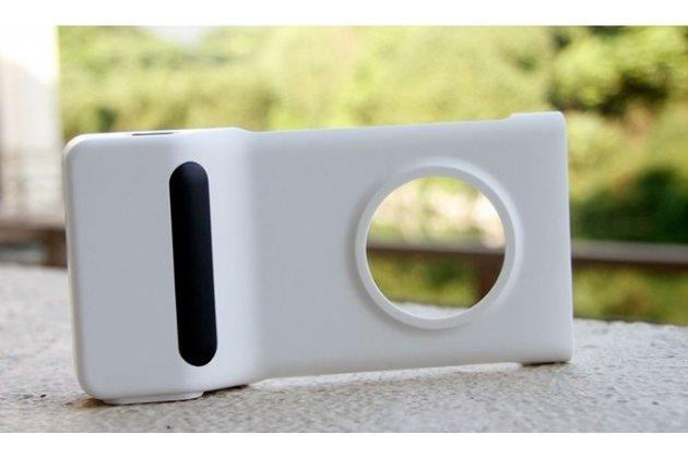 фоточехол-крышка pd-95g со встроенным аккумулятором на 1020 mah  для nokia lumia 1020 белый
