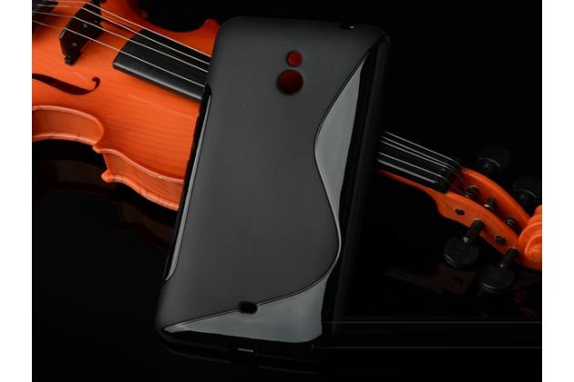 Ультра-тонкая полимерная из мягкого качественного силикона задняя панель-чехол-накладка для  nokia lumia 1320 черная