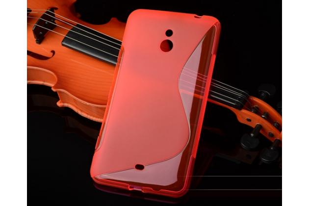 Ультра-тонкая полимерная из мягкого качественного силикона задняя панель-чехол-накладка для nokia lumia 1320 красная