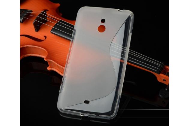 Ультра-тонкая полимерная из мягкого качественного силикона задняя панель-чехол-накладка для nokia lumia 1320 серая