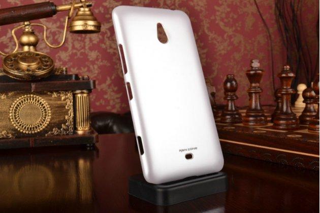 Задняя панель-крышка-накладка из тончайшего и прочного пластика для nokia lumia 1320 белая