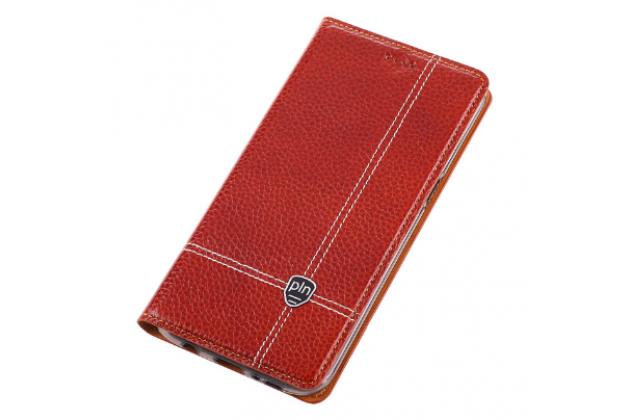 Чехол-книжка из качественной импортной водоотталкивающей кожи с мульти-подставкой и визитницей для nokia lumia 1320 красный с узором